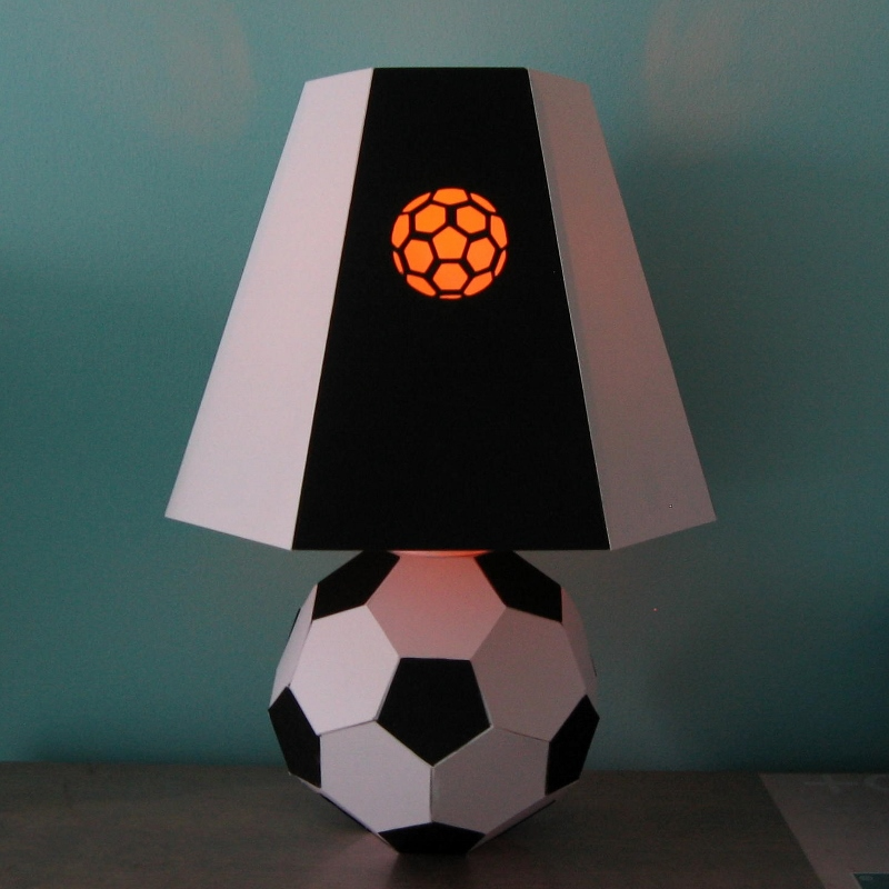Football soccer lamp template footballsoccer lamp template mozeypictures Images
